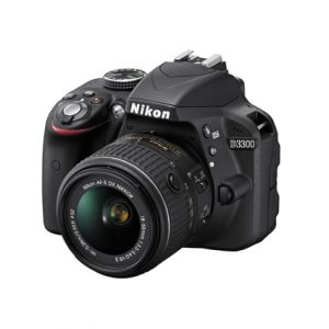 Nikon D3300 with 18-55mm VR II lens