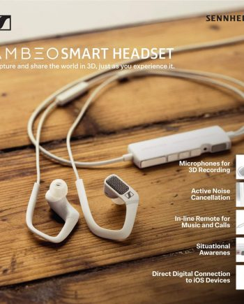 Sennheiser Ambeo 3D Video Sound Recording Earphones with Active Noise Cancellation Smart Headset
